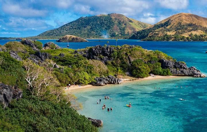 Sawa-i-Lau Island, Yasawa Group, Fiji, South Pacific