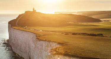 The South Down's Seven Sisters cliffs at sunset