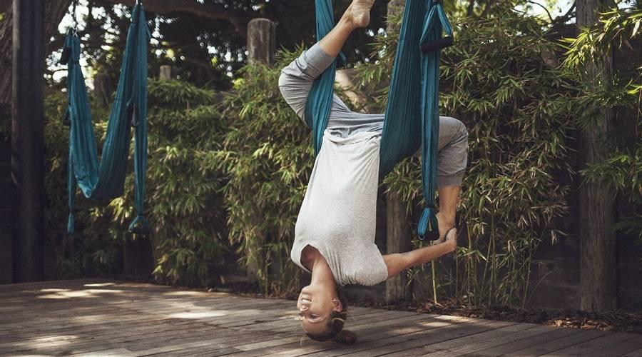 Aerial yoga at Marbella