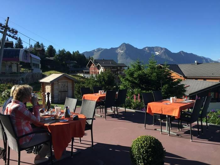 Enjoying the sun at Hotel Bettmerhof  (Kerrie Porteous)
