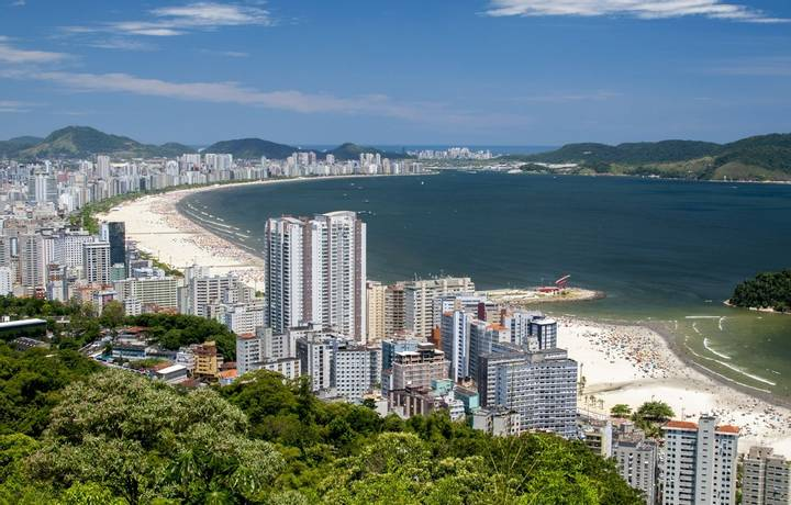 Beautiful view of the city of Santos - Sao Paulo - Brazil
