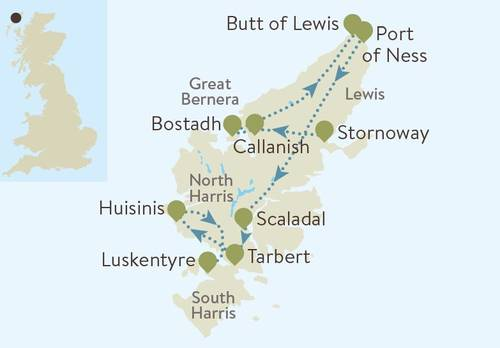 Harris and Lewis Map