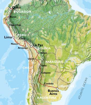 QUITO to BUENOS AIRES (53 days) Peaks & Plains
