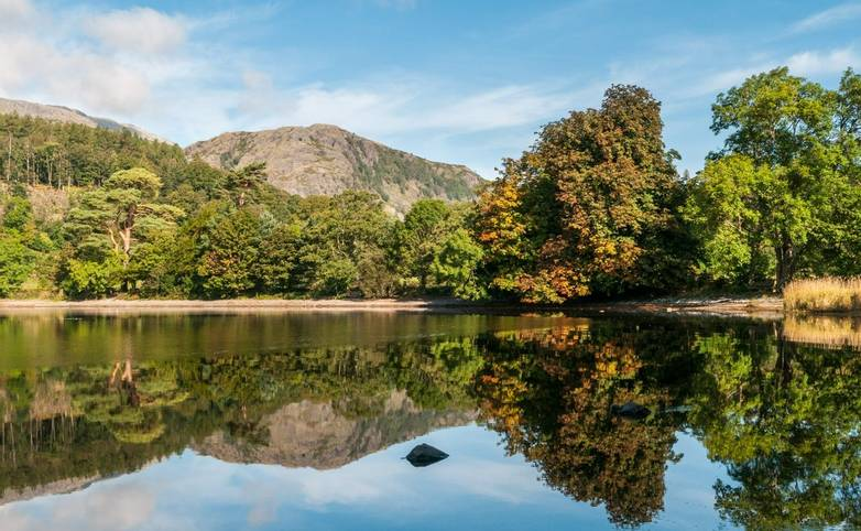 Early autumn reflections at Coniston Water.