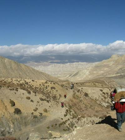 Trail near Ghuma Thati (4,800m) in Upper Mustang