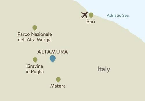 Puglia Itinerary Map