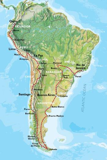 QUITO to RIO (105 days) Kingdoms & Carnivals
