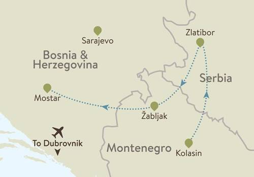 Balkans Explorer Itinerary Map