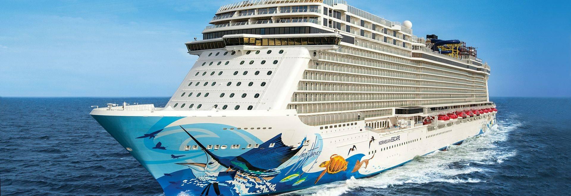 Norwegian Escape during Sea Trials along the coast of NorwayNorwegian Cruise Line