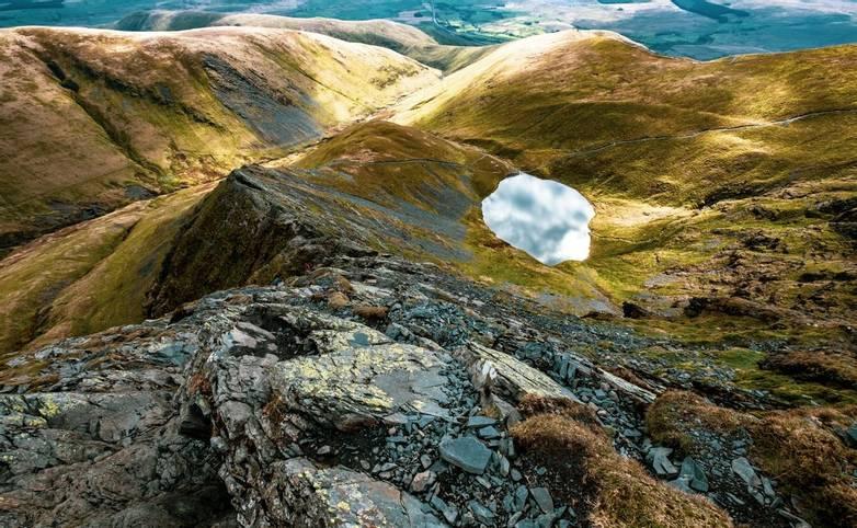 Scales Tarn from Sharp Edge, Blencathra