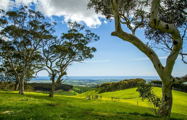 Images of Adelaide green Hills view.