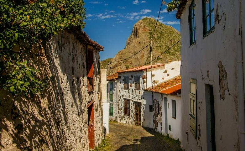 Small treet in Taganana village in the Anaga Rural Park, Tenerife, Canary Islands