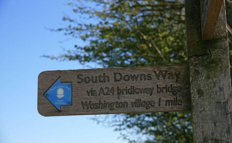 Sign at Barnsfarm Hill South Downs Way.JPG