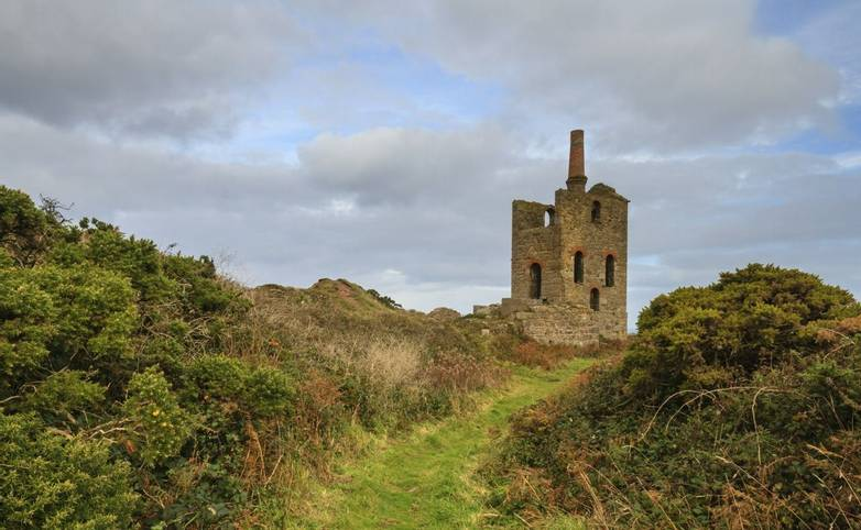 Levant tin Mine in cornwall UK