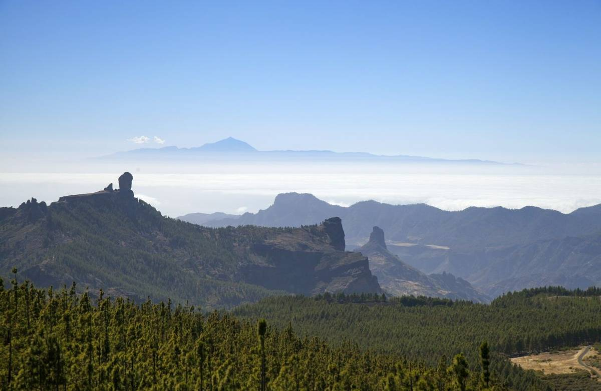 Gran Canaria, view from the highest areas, Las Cumbres