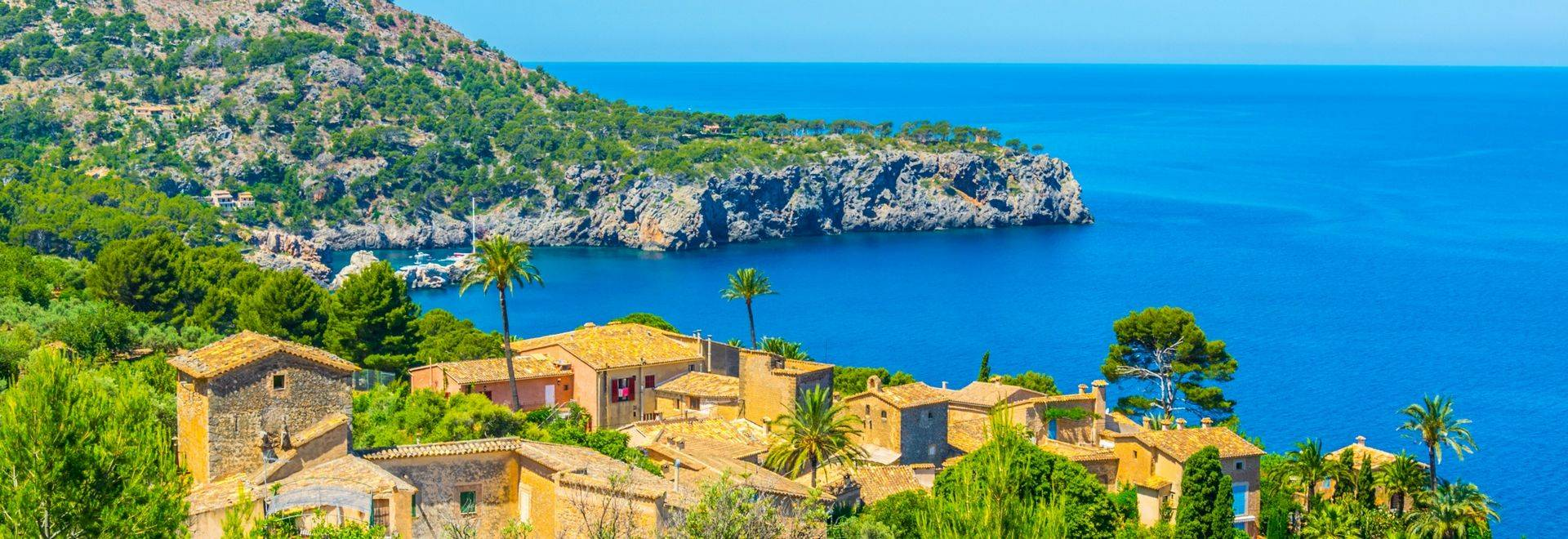 Aerial view of Llucalcari, Mallorca, Spain