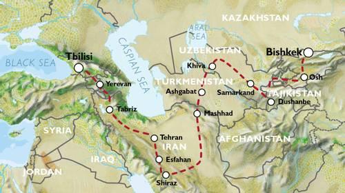 BISHKEK to TBILISI (42 days) Kyrgyzstan to Caucasus