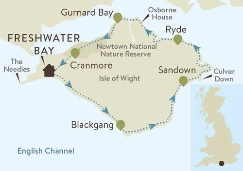 Isle of Wight Coast Map