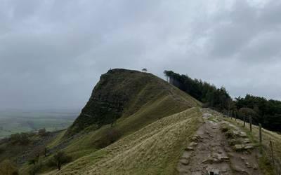 Great Ridge Pathway before restoration
