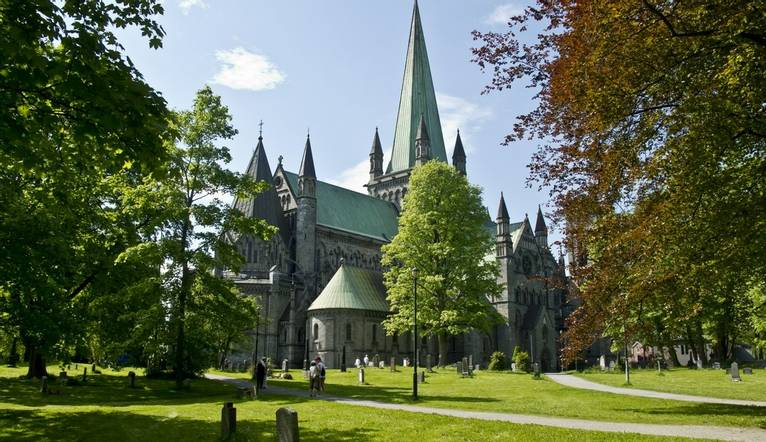 Dreamstime M 35666431 Spire Of Trondheim Cathedral
