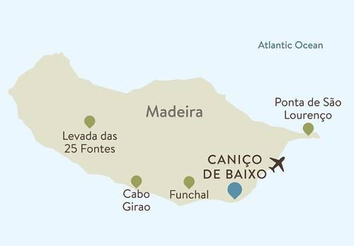Madeira Itinerary Map