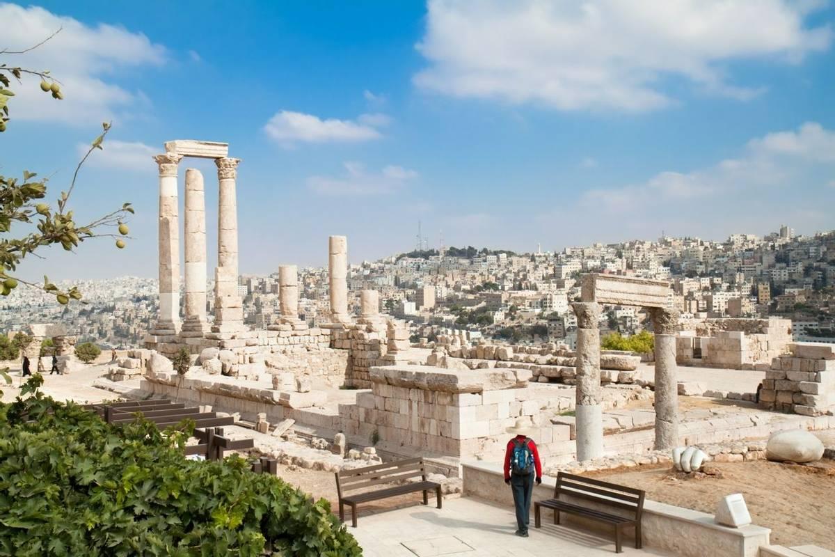 The Temple of Hercules in the Citadel, Amman, Jordan