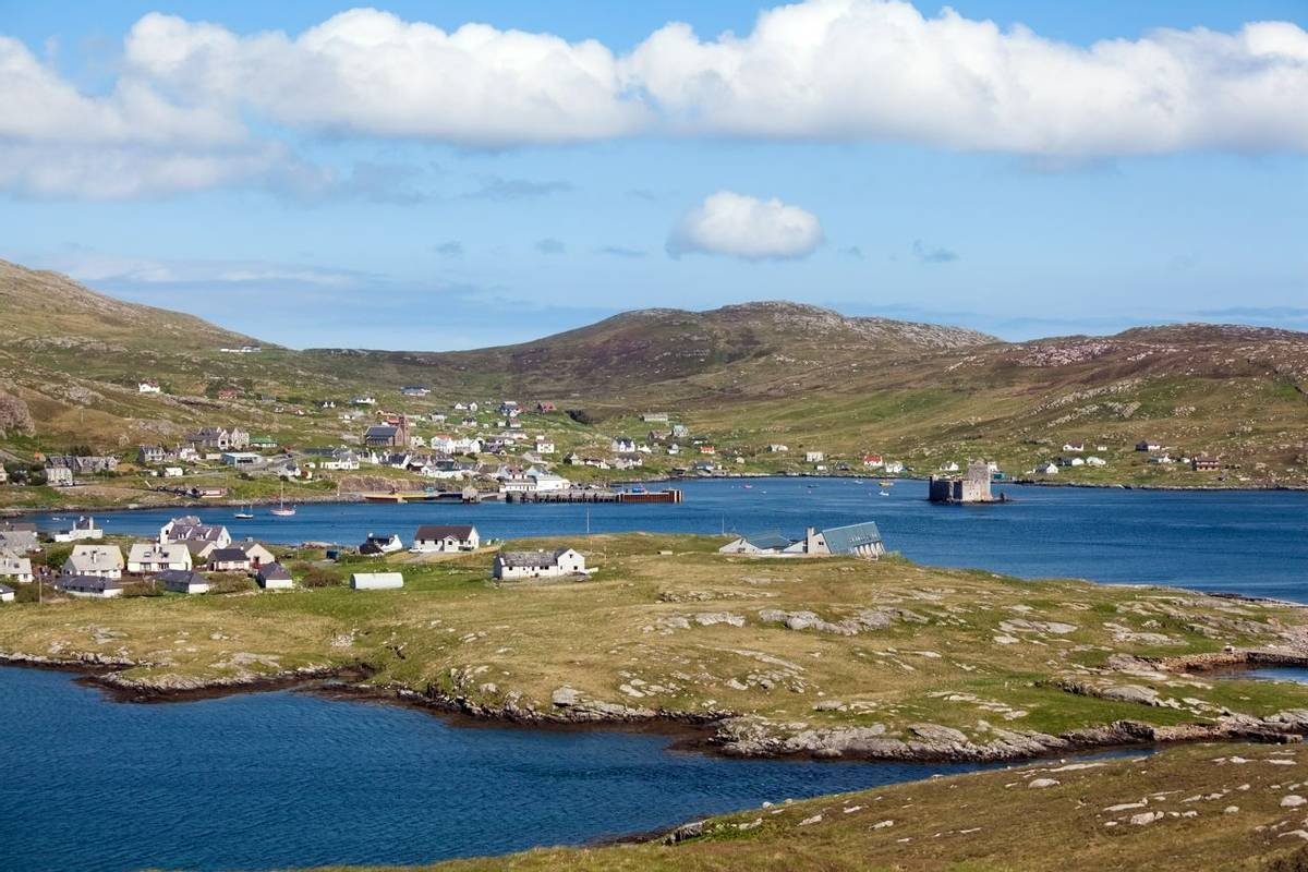 Panorama of Castlebay, Barra, Outer Hebrides