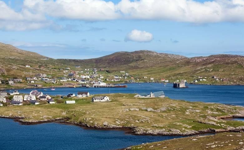 Panorama of Castlebay, Barra, Outer Hebrides
