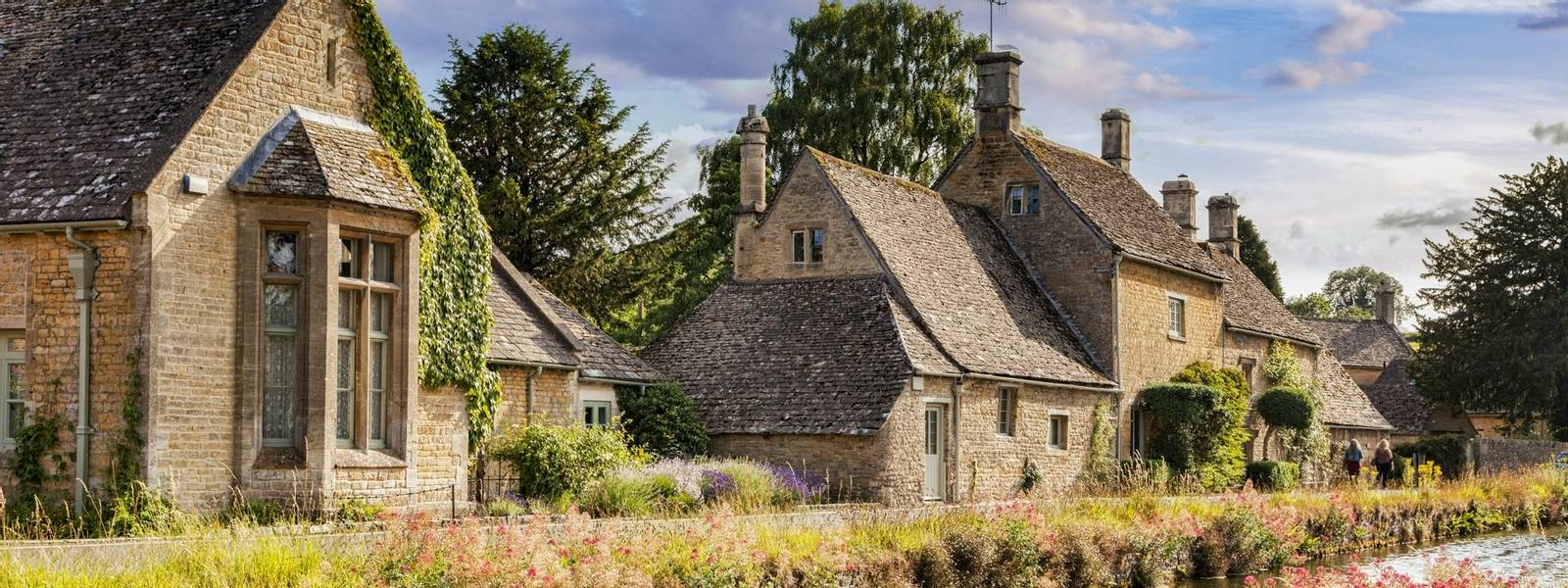 The Cotswolds village of Lower Slaughter, Gloucestershire, England