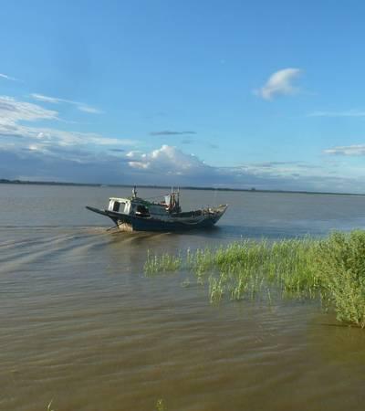 Boat on Irrawaddy