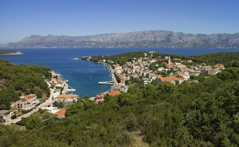 Povlja typical mediterranean village on north east of island Brac in Croatia