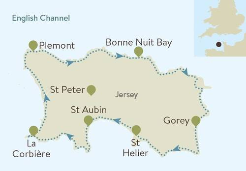 Jersey Coast Path Map