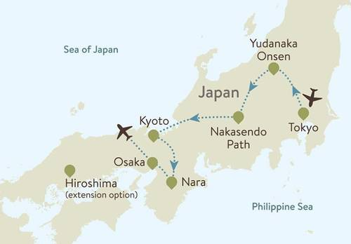 Japan Itinerary Map