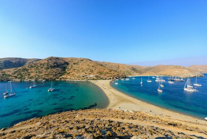 Kolona double-sided beach, Kythnos, Greece shutterstock_402317095.jpg
