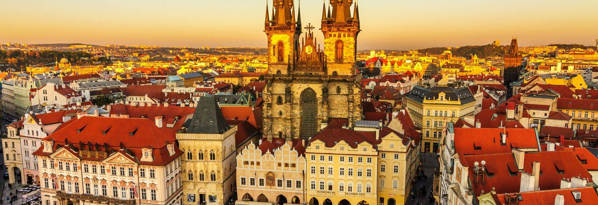 Týn Church, is an imposing structure that looms over the Old Town Square of Prague. An example of Gothic architecture at it…