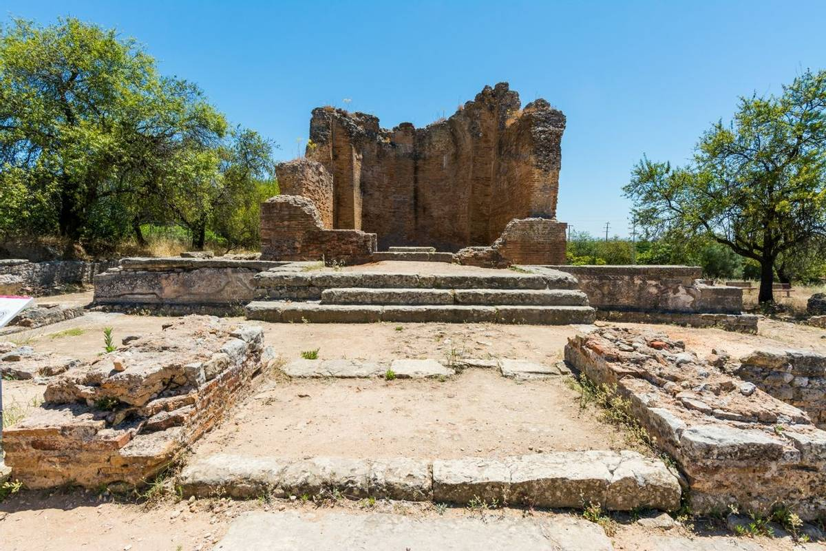 Roman ruins of Milreu, Estoi, Algarve, Portugal