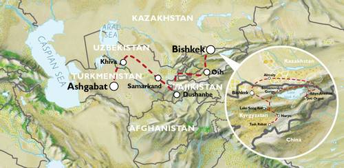 BISHKEK to ASHGABAT (37 days) Silk Road Highlights & Kyrgyzstan Overland
