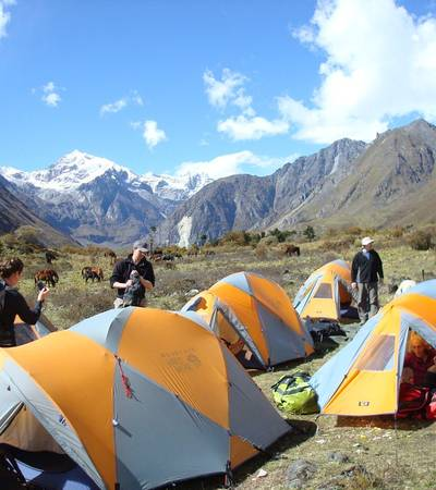 Robluthang camp at 4,410m