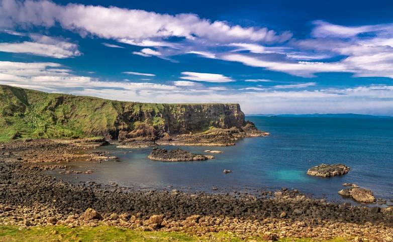 Murlough Bay at the Causeway Coast of Northern Ireland