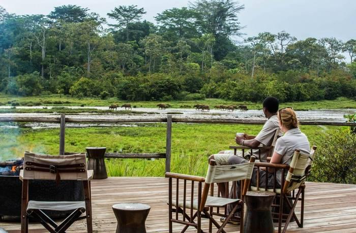 Lango Camp view over the Lango Bai
