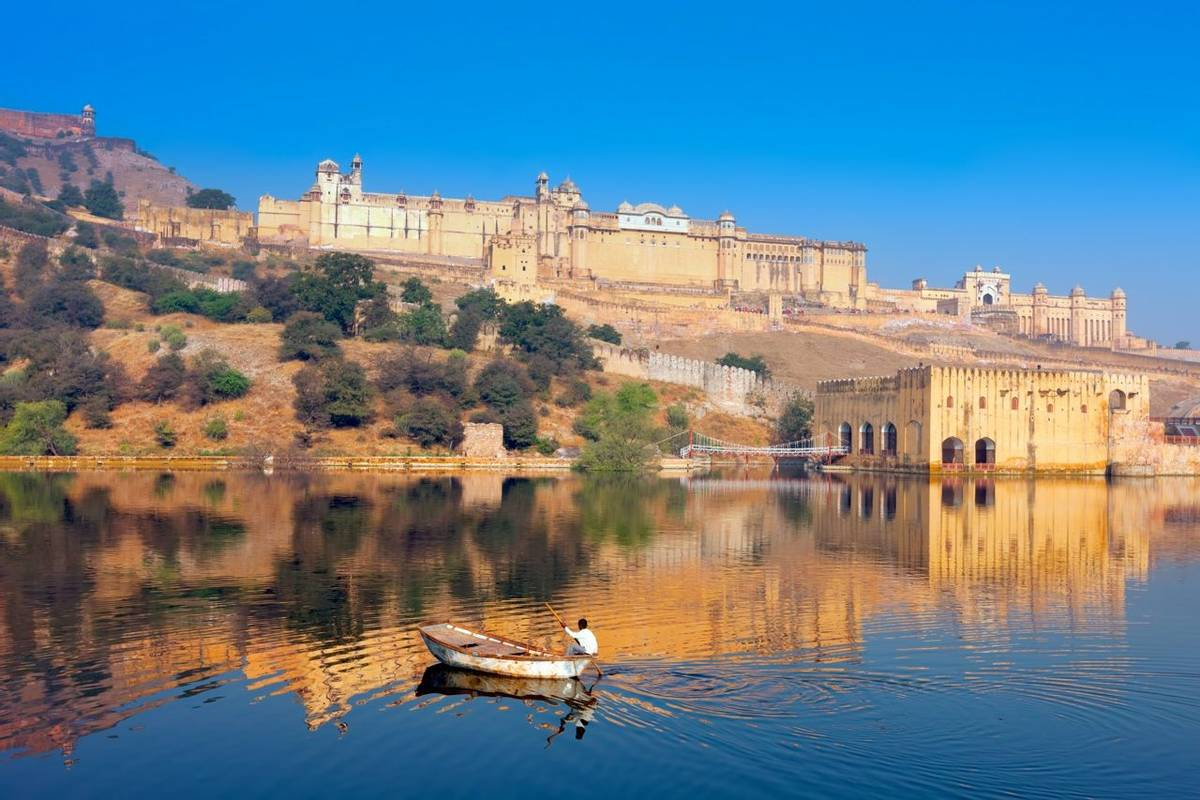 Maota Lake and Amber Fort, Jaipur