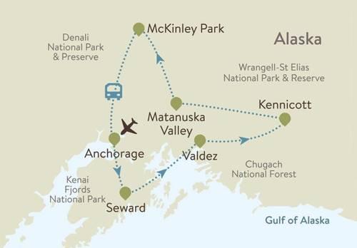 Alaska Itinerary Map