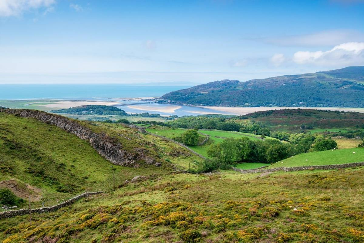 Barmouth Estuary in Wales