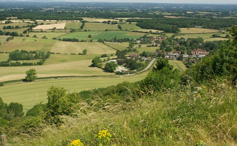 The Weald from South Downs, Sussex, England