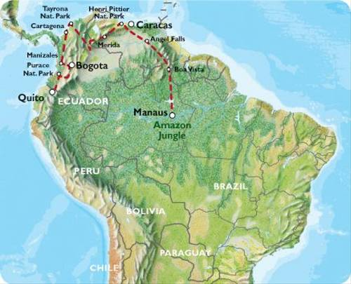 MANAUS to QUITO (50 days) Venezuela & Colombia Overland
