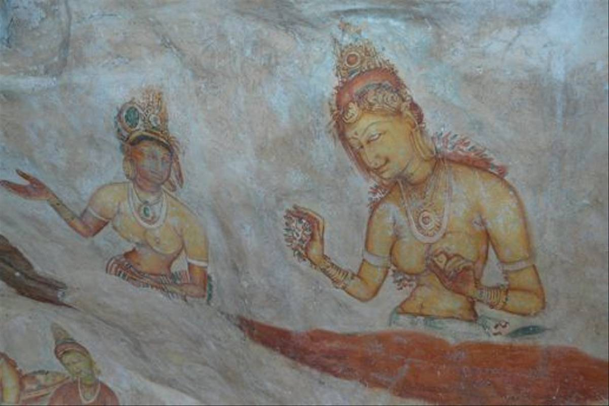 Murals at Sigiriya rock fortress (Rajan Jolly)
