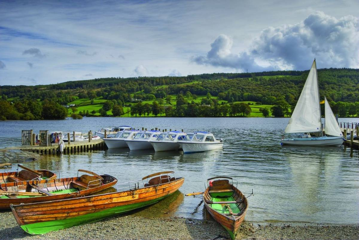 Pleasure boats on Coniston water