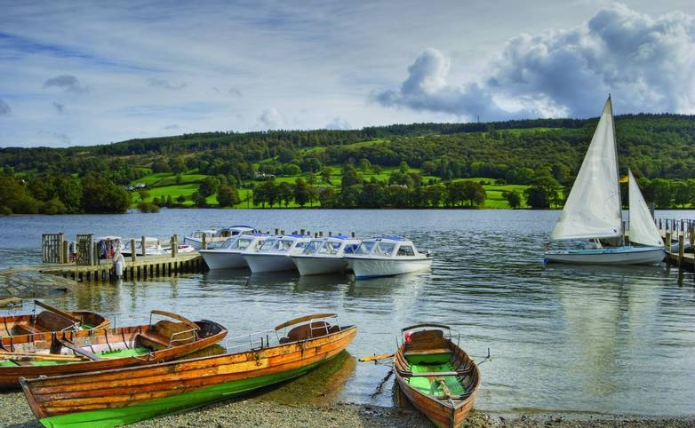 Pleasure boats on Coniston water