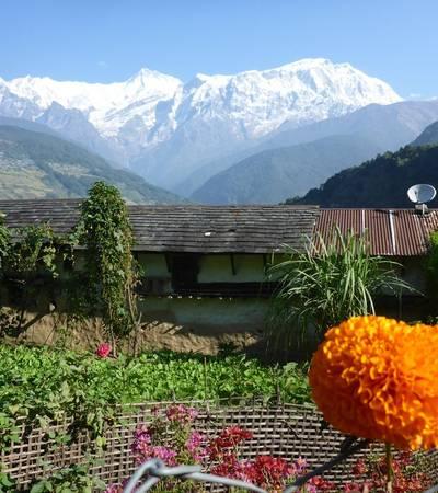 View of the Lamjung Himal