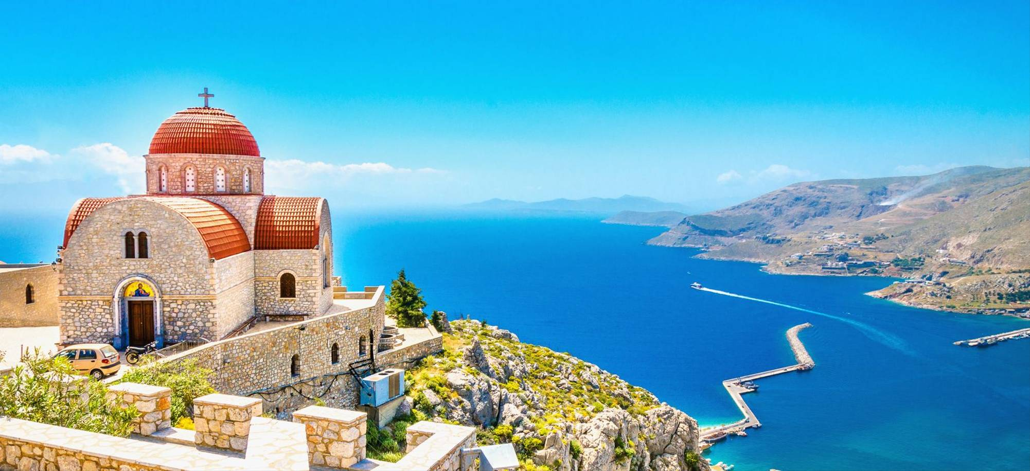 Corfu   Remote Church Sits Atop Cliff   Itinerary Desktop